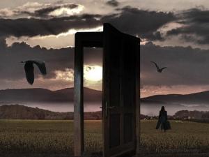 Go out the door in order to return through another door.