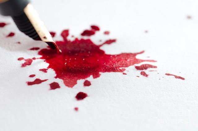 Red is the color of blood, anger, resentment . . . and editing.